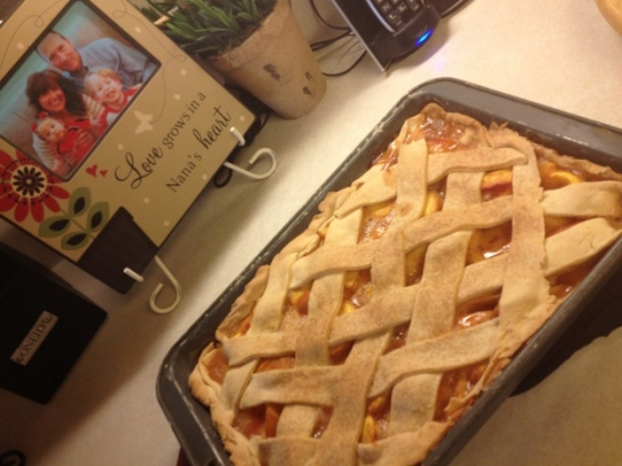 Homemade Peach Cobbler with Lattice Top