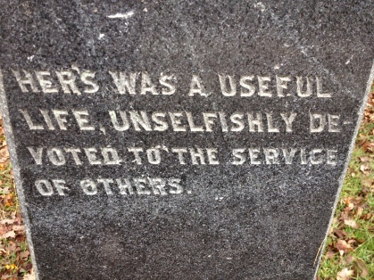 A tombstone from a recent trip to Hollywood Cemetery in Richmond, VA