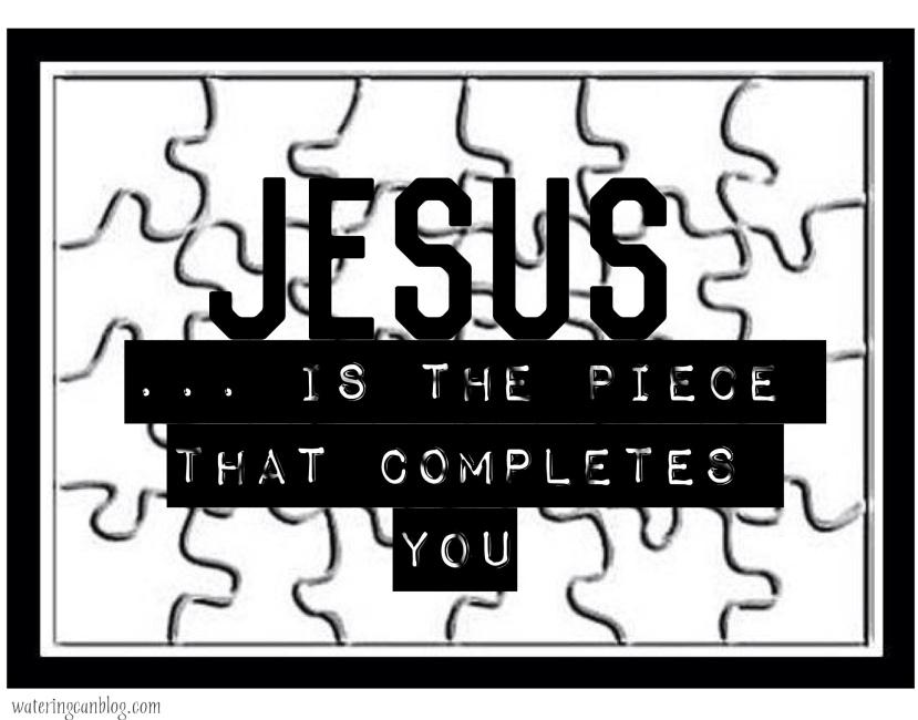 Jesus=the missiing piece