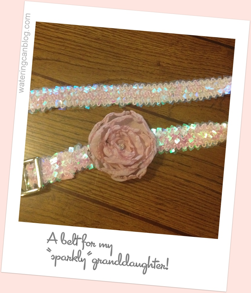 DIY Flower Belt