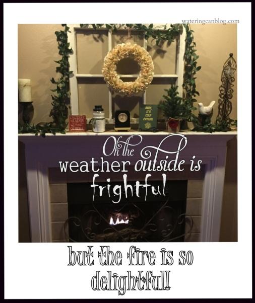 Winter Fireplace 2015
