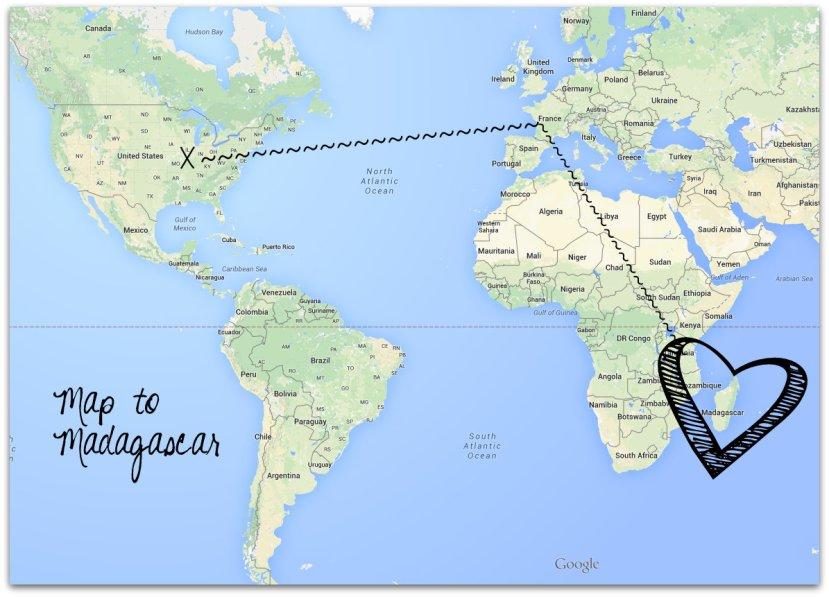 Map to Madagascar