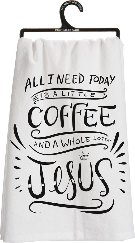 Coffee and Jesus Towel