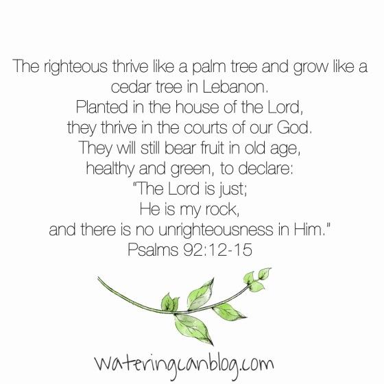 Psalm 92: 12-15