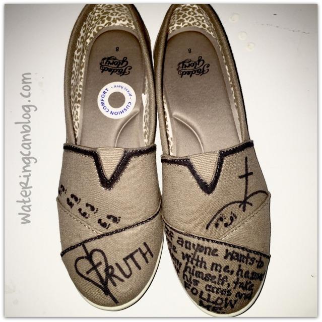 Sharpie Shoes--Matthew 19.21