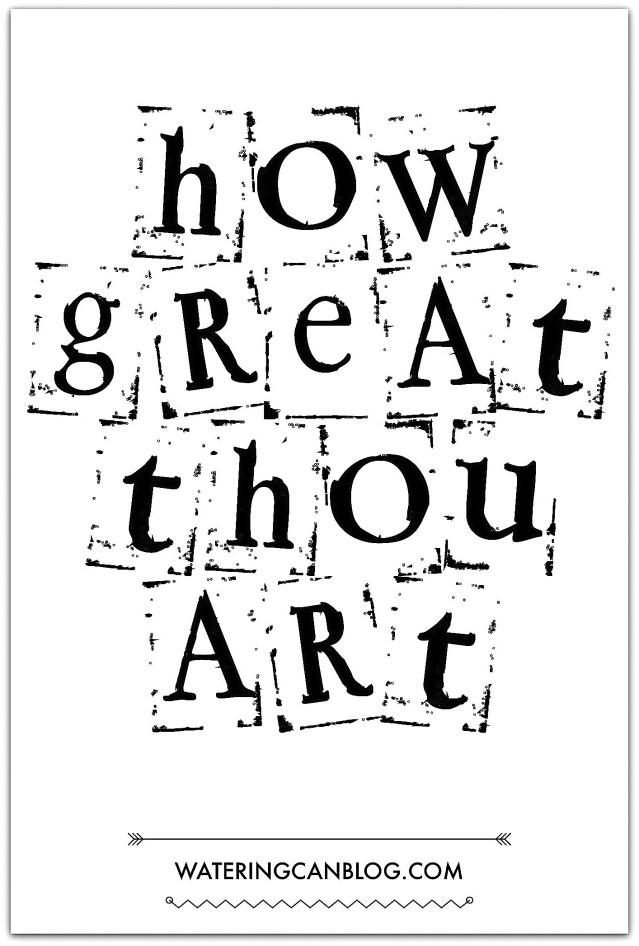 How Great Thou Art print