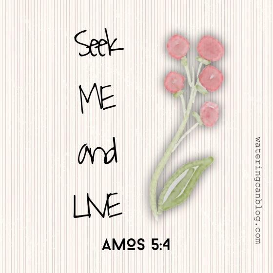 Seek The Lord. Amos 5.4