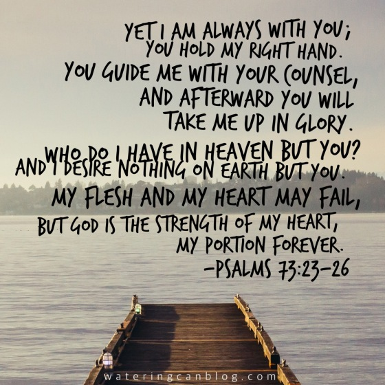 Psalm 73:23-26