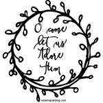 O Come Let Us Adore Him Wreath