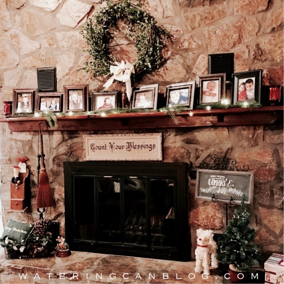 Christmas Blessings Fireplace Mantel