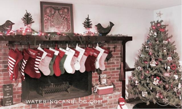 Christmas Fireplace Mantel