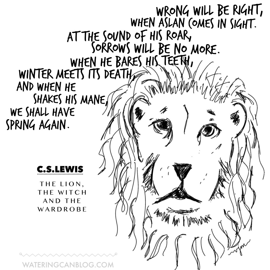#sketch #drawing #lion #cslewis #quote #art #wateringcanblog